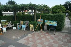 Een aantal schilderijen gemaakt tijdens de schildersdag 2015 Van Gogh